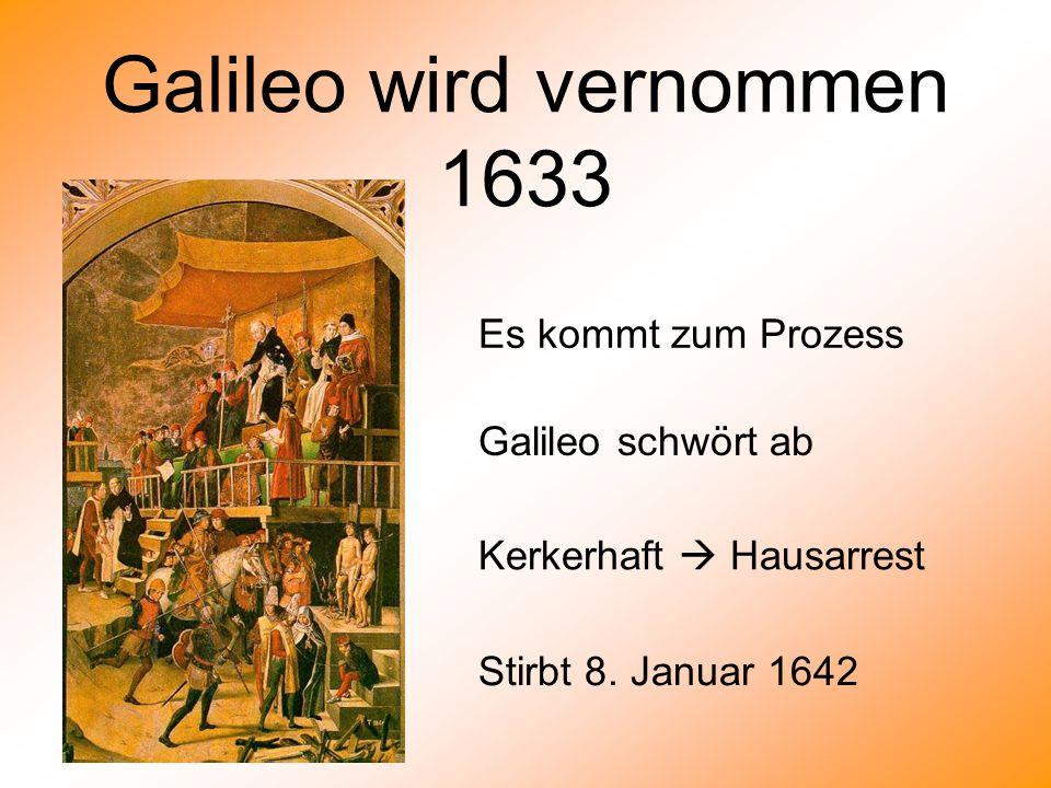 Galileo wird vernommen