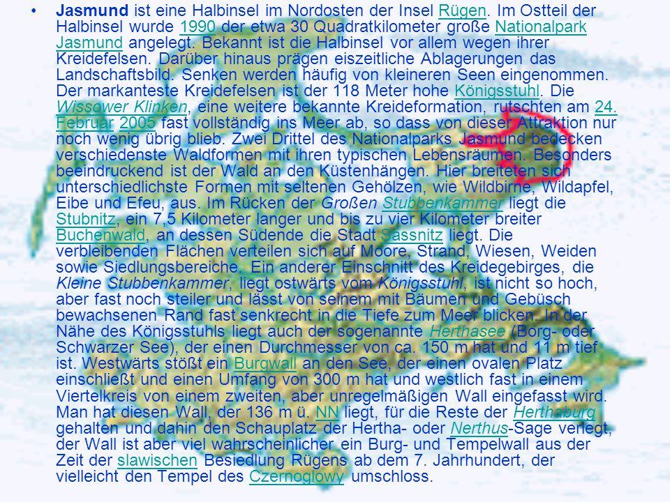 Jasmund ist eine Halbinsel im Nordosten der Insel Rügen