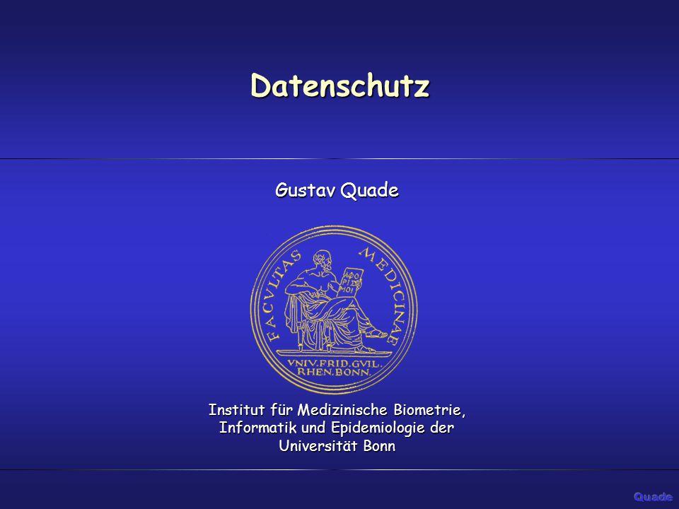 Datenschutz Gustav Quade