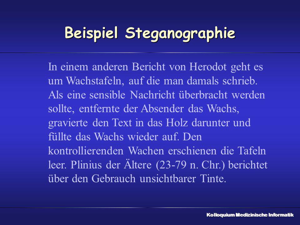 Beispiel Steganographie