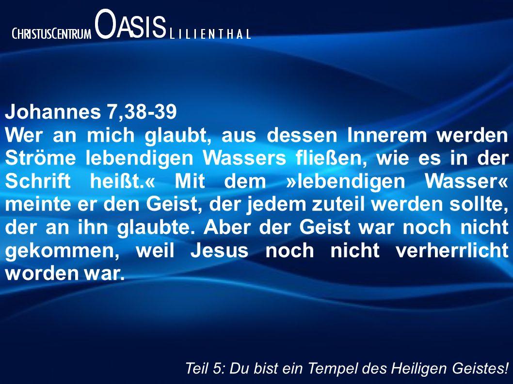 Johannes 7,38-39