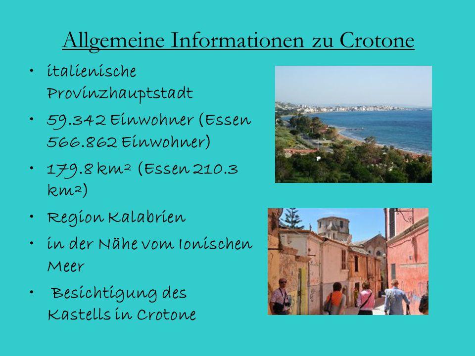 Allgemeine Informationen zu Crotone