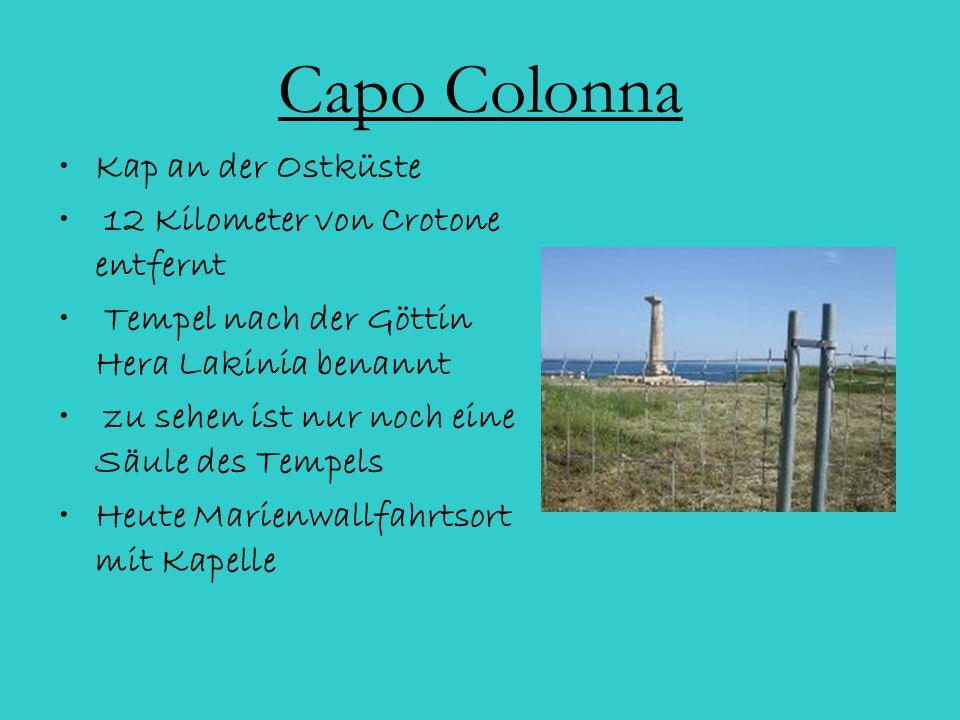 Capo Colonna Kap an der Ostküste 12 Kilometer von Crotone entfernt