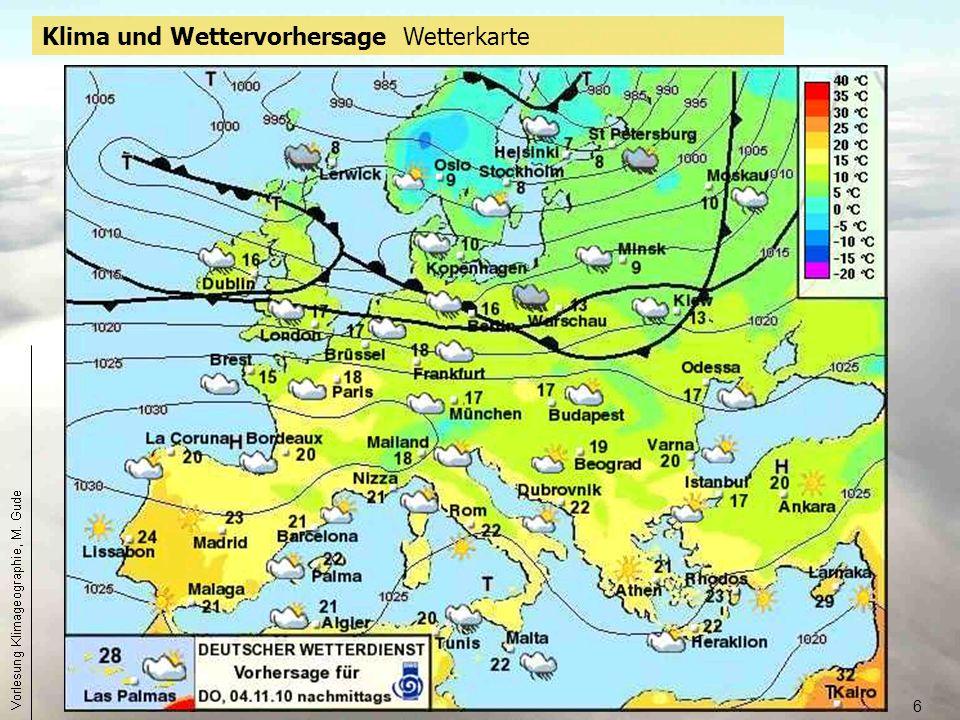 Klima und Wettervorhersage Wetterkarte