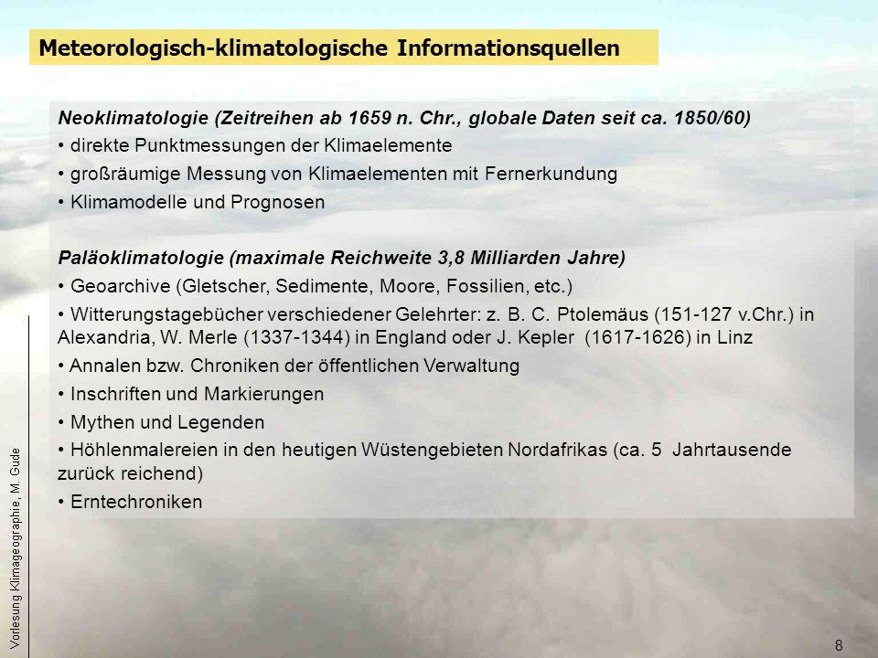 Meteorologisch-klimatologische Informationsquellen