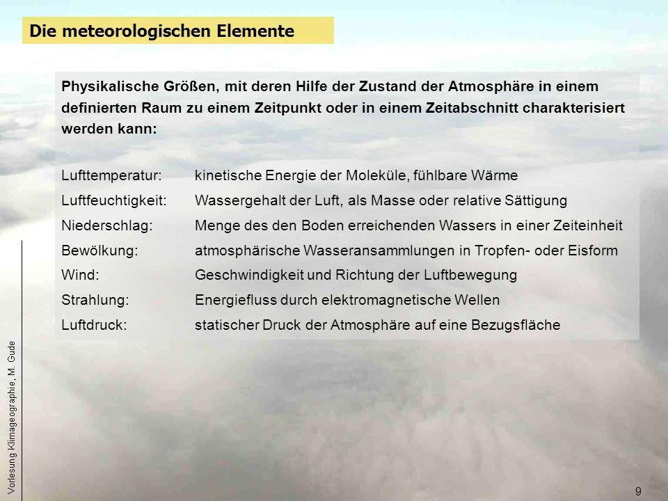 Die meteorologischen Elemente