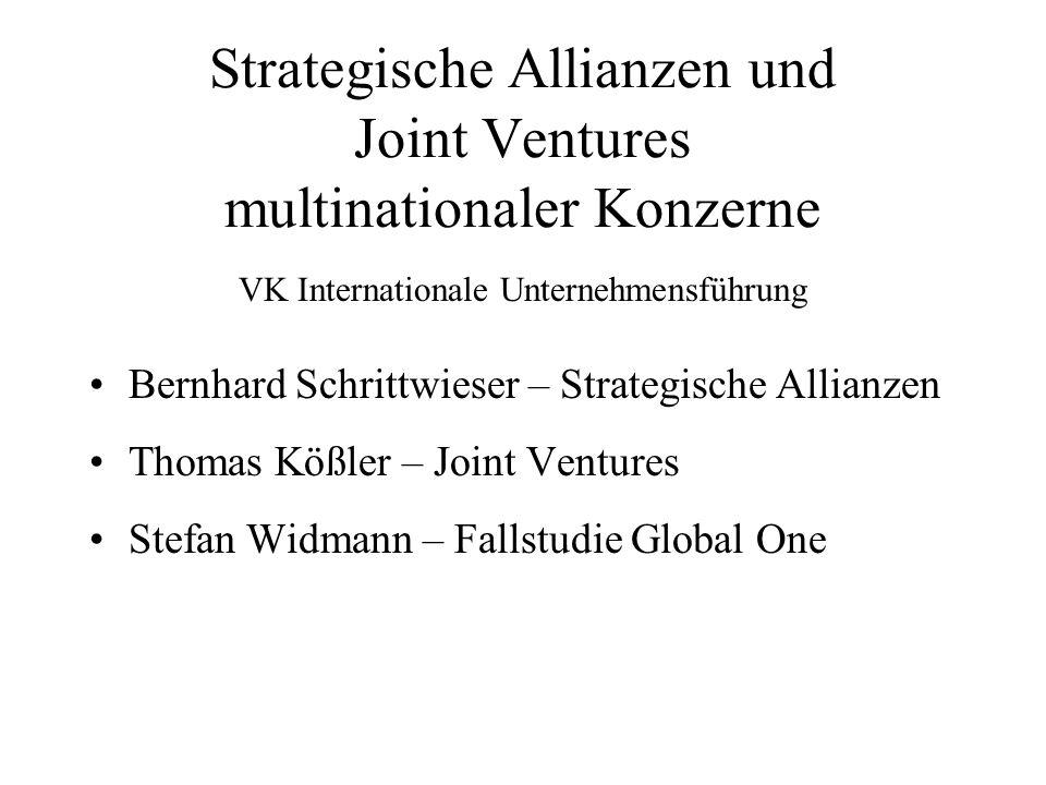 Strategische Allianzen und Joint Ventures multinationaler Konzerne
