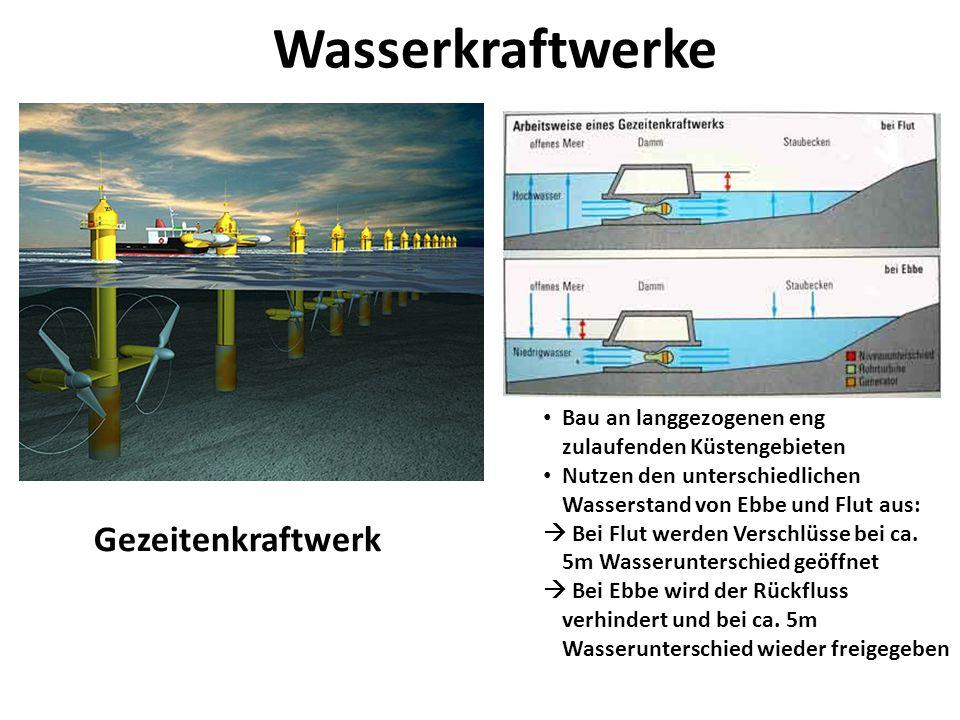 Wasserkraftwerke Gezeitenkraftwerk