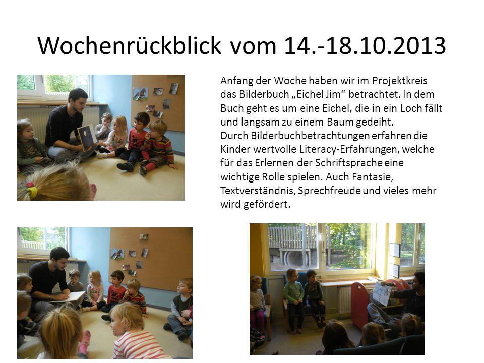 Wochenrückblick vom 14.-18.10.2013