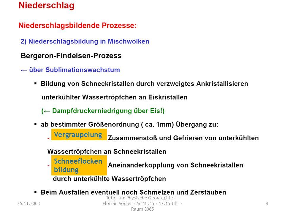 Erläutere den Prozess der Niederschlags-bildung durch Sublimationswachstum (Bergeron-Findeisen-Prozess).