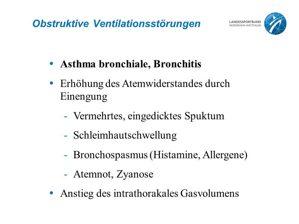 Obstruktive Ventilationsstörungen