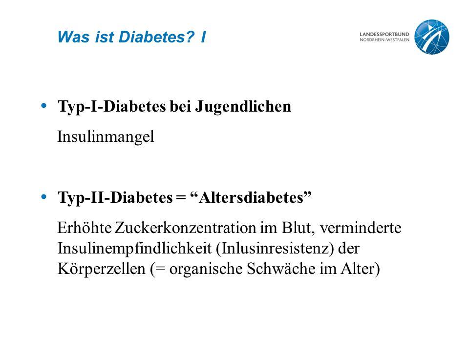 Typ-I-Diabetes bei Jugendlichen Insulinmangel