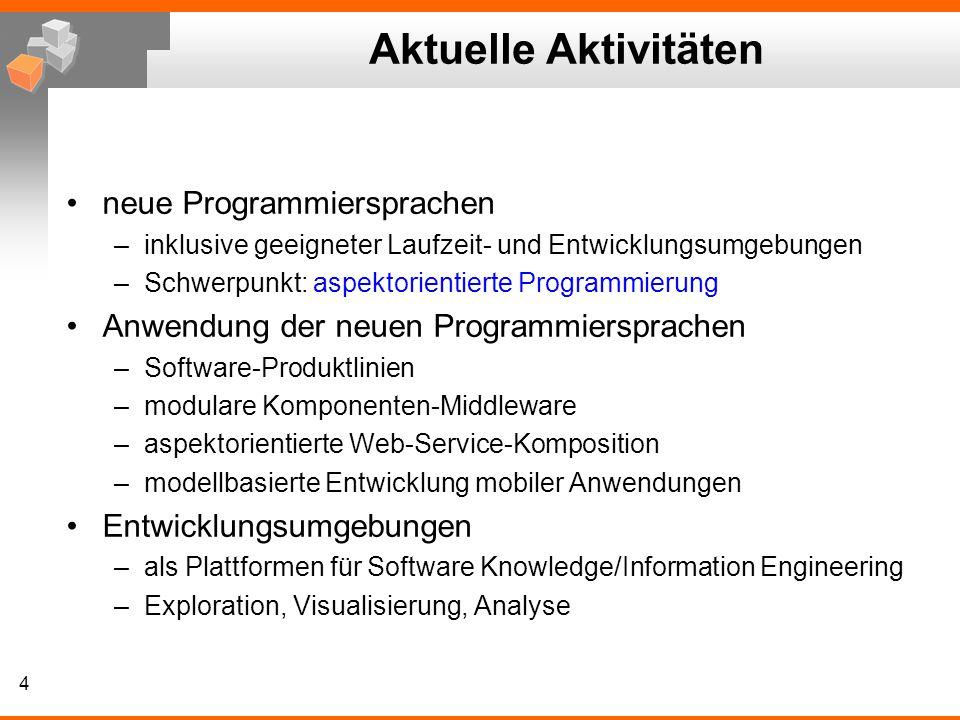 Aktuelle Aktivitäten neue Programmiersprachen