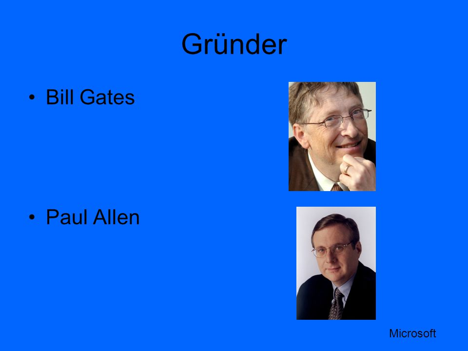 Gründer Bill Gates Paul Allen Microsoft