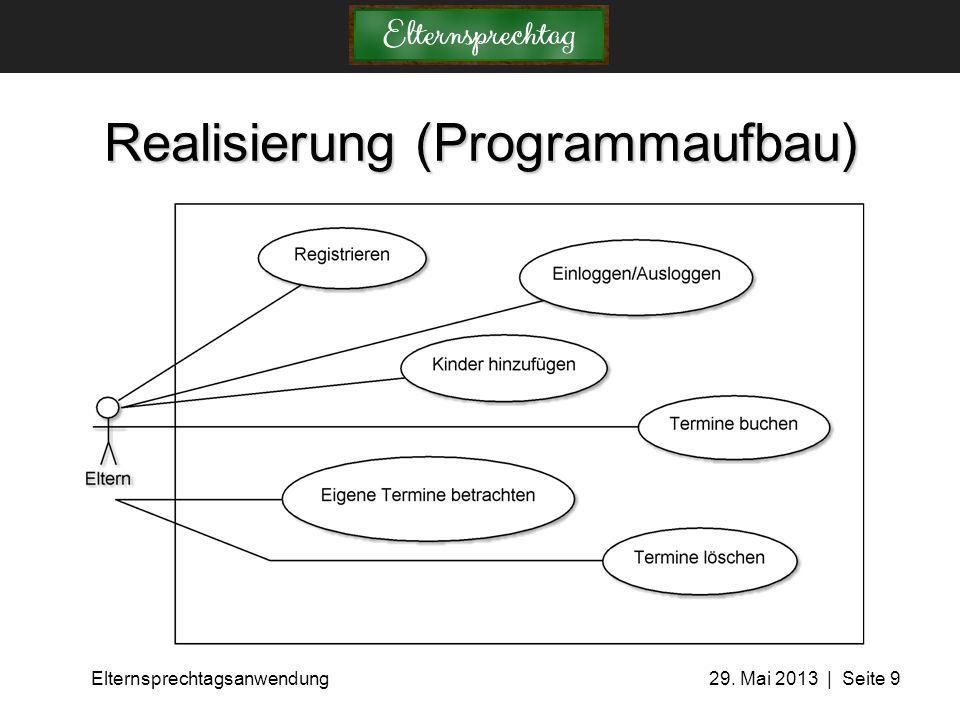 Realisierung (Programmaufbau)