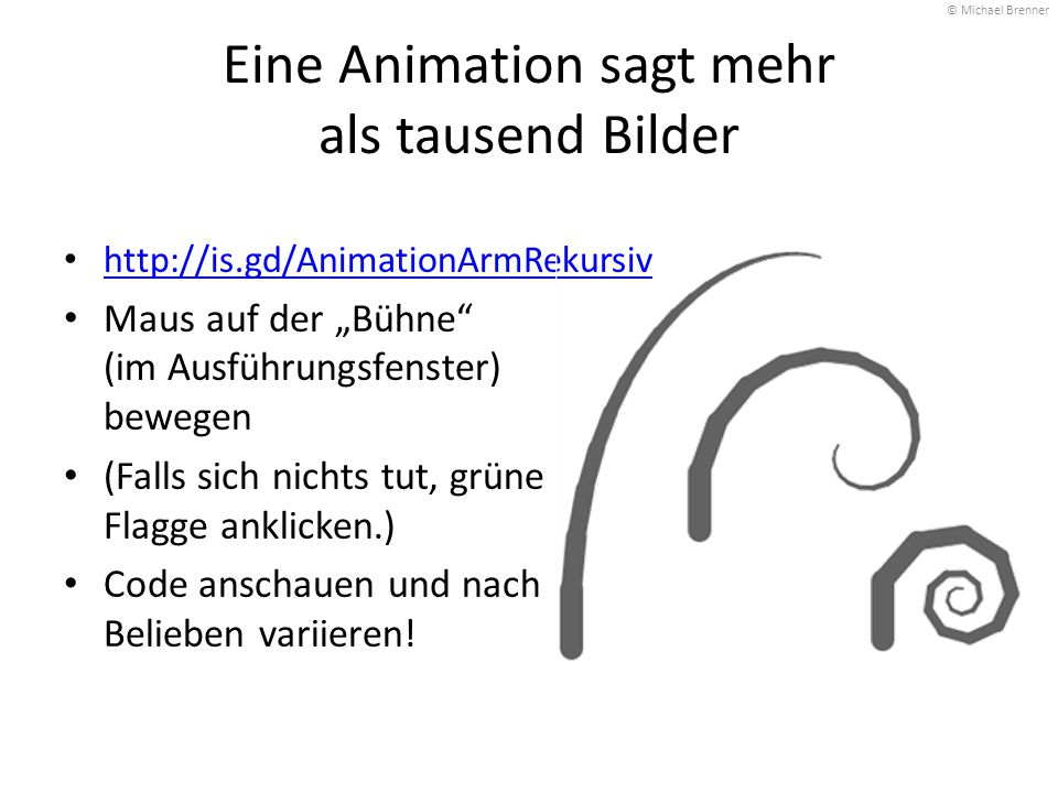 Eine Animation sagt mehr als tausend Bilder