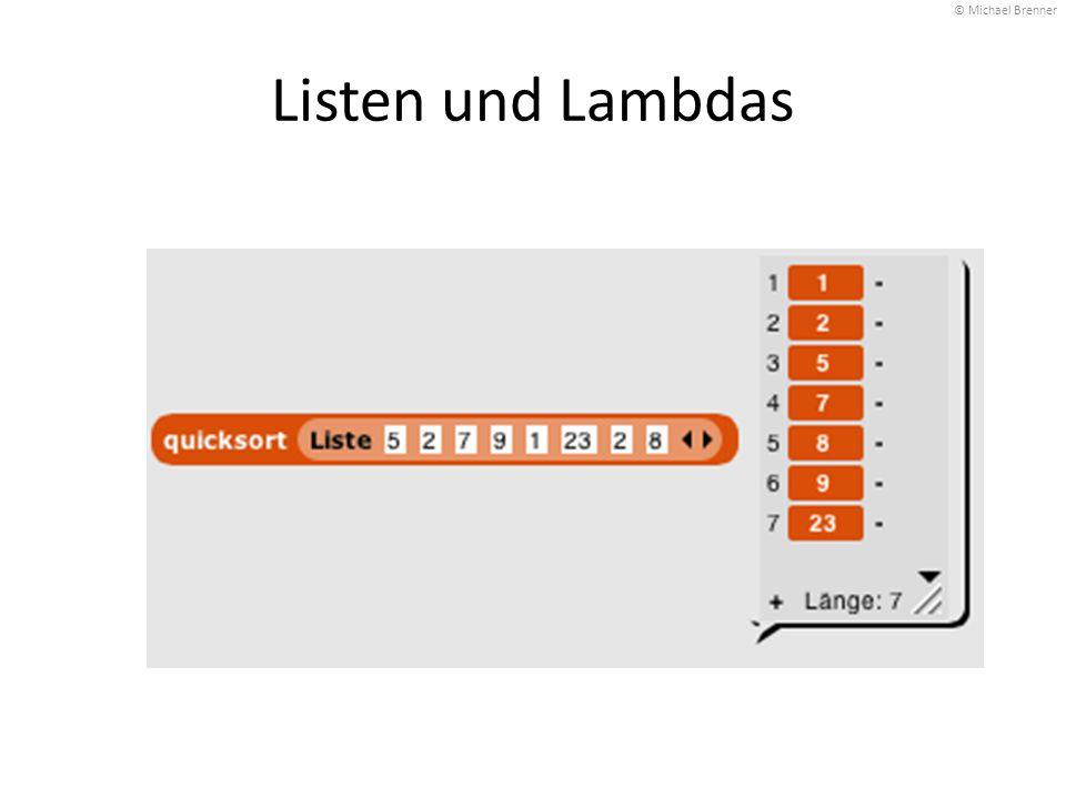 © Michael Brenner Listen und Lambdas