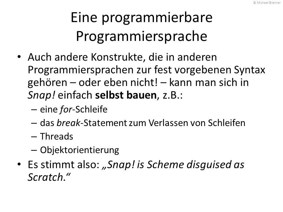 Eine programmierbare Programmiersprache