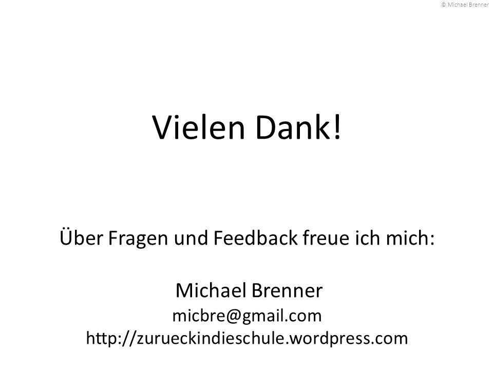 © Michael Brenner Vielen Dank.