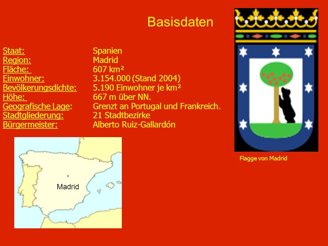 Basisdaten Staat: Spanien Region: Madrid Fläche: 607 km²