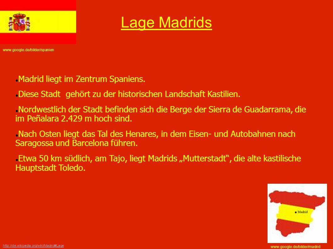 Lage Madrids Madrid liegt im Zentrum Spaniens.