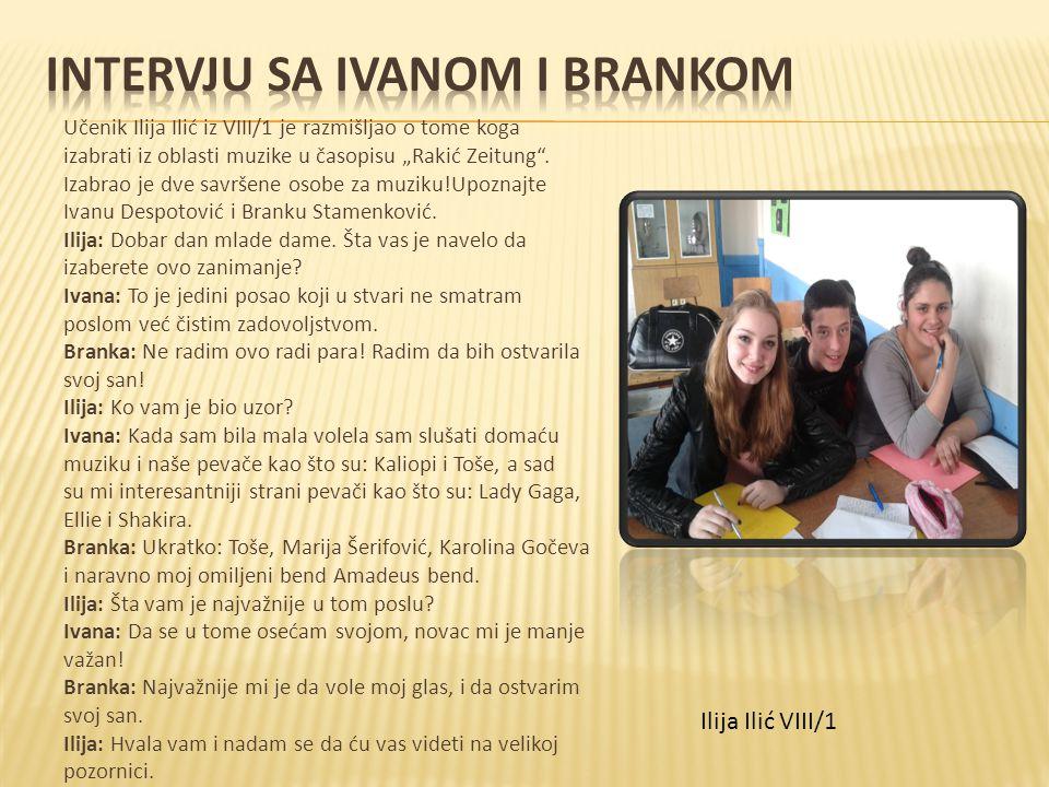 Intervju sa Ivanom i Brankom