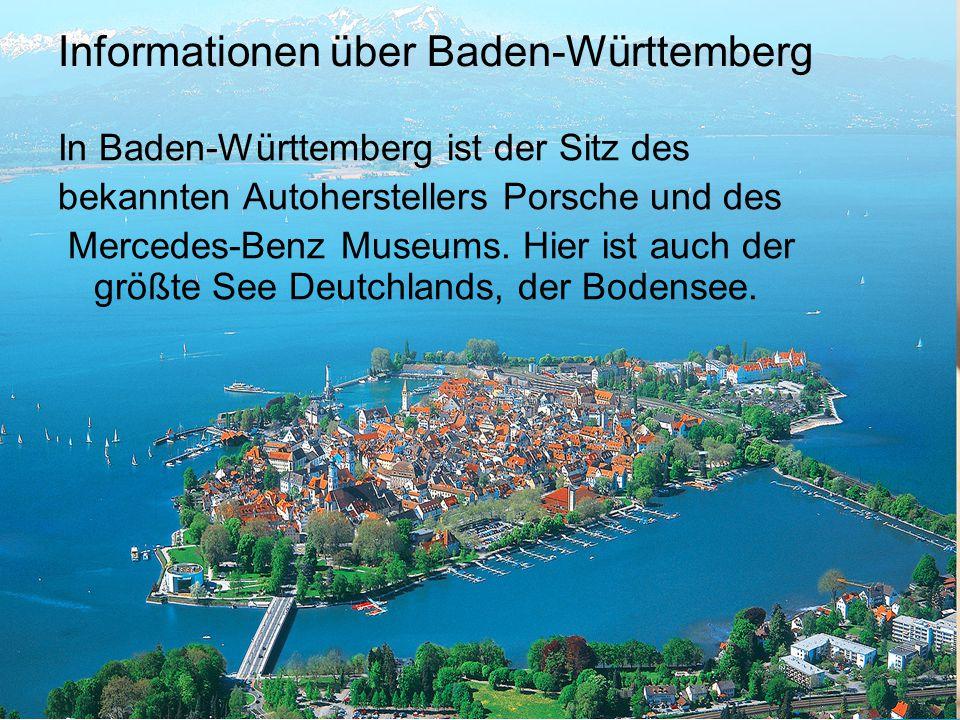Informationen über Baden-Württemberg