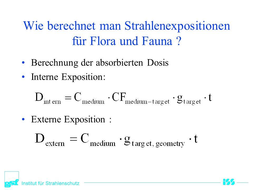 Wie berechnet man Strahlenexpositionen für Flora und Fauna