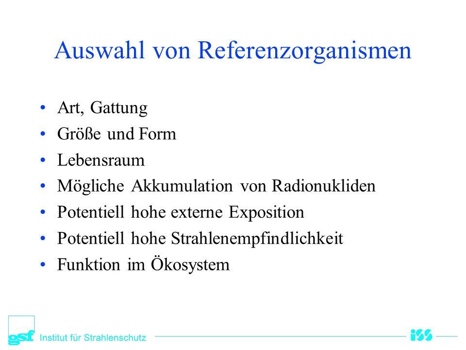 Auswahl von Referenzorganismen