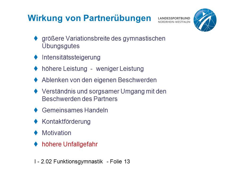 Wirkung von Partnerübungen