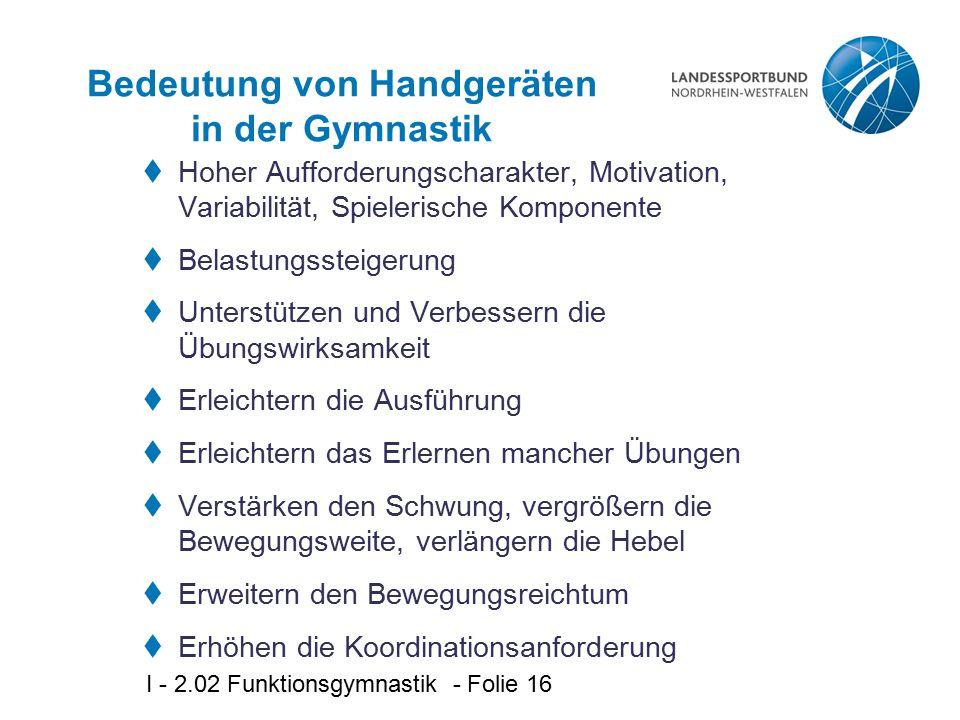 Bedeutung von Handgeräten in der Gymnastik