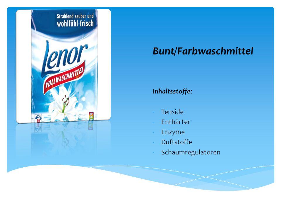 Bunt/Farbwaschmittel