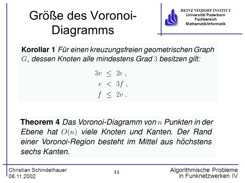 Größe des Voronoi-Diagramms