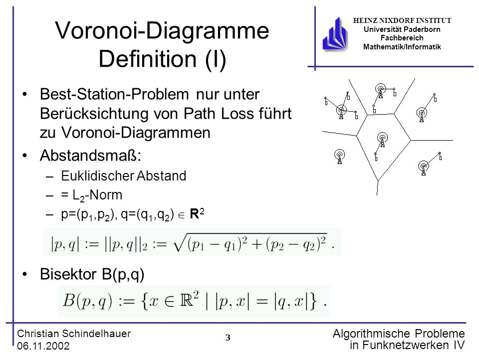 Voronoi-Diagramme Definition (I)