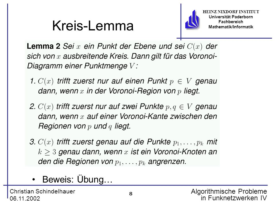 Kreis-Lemma Beweis: Übung…