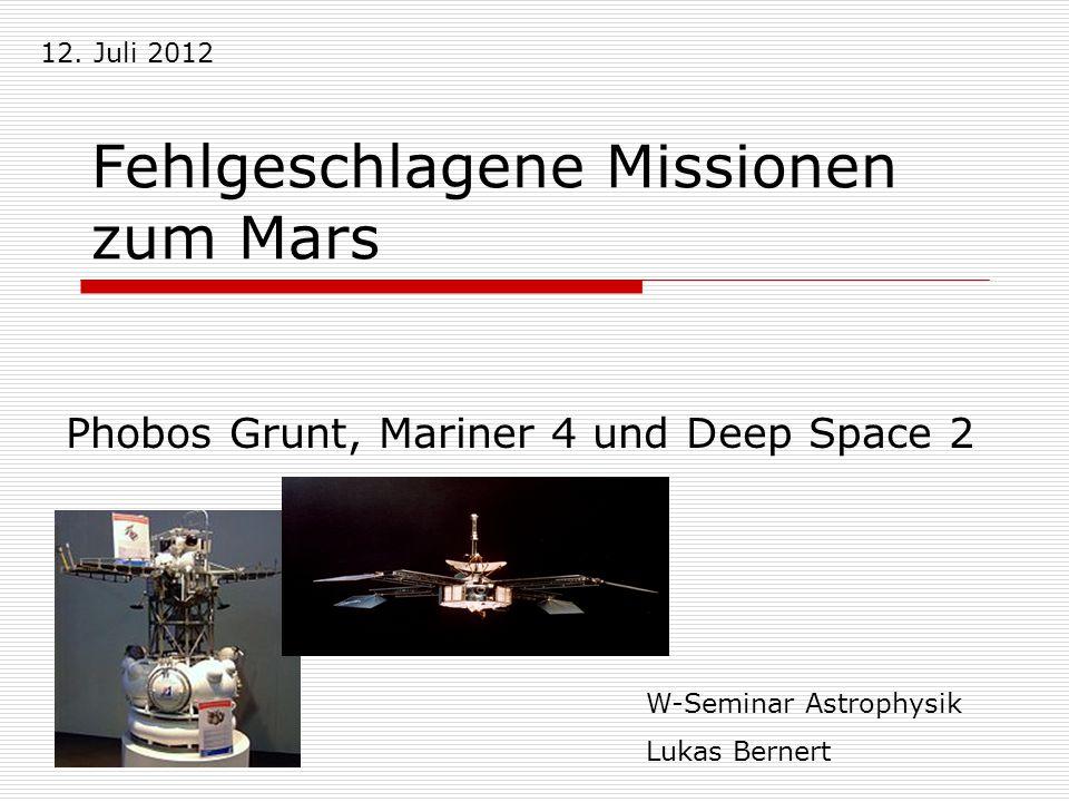 Fehlgeschlagene Missionen zum Mars