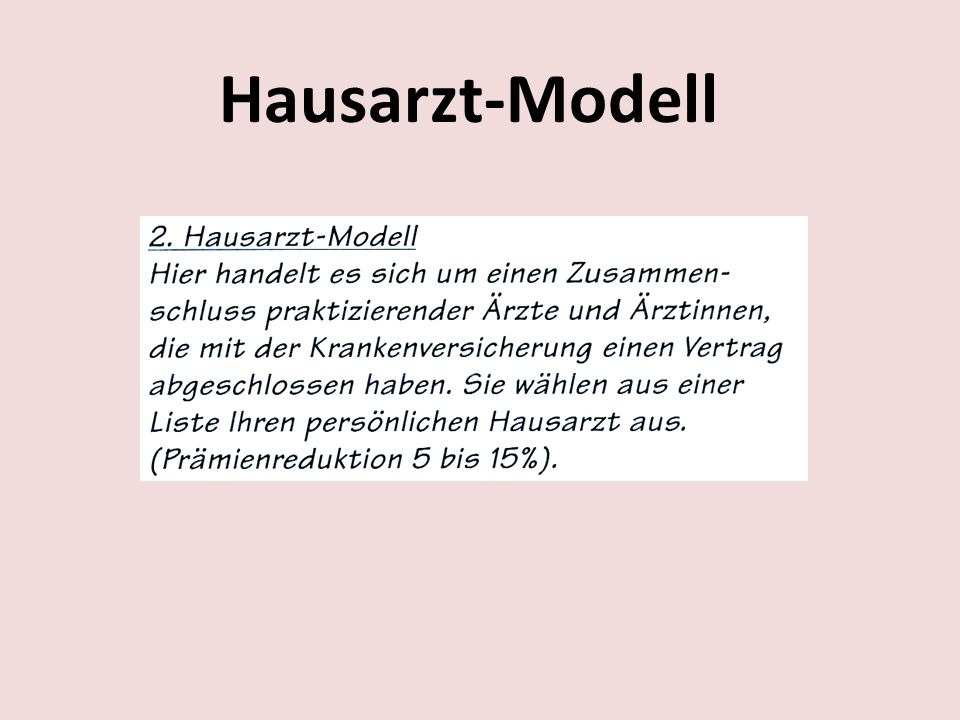 Hausarzt-Modell