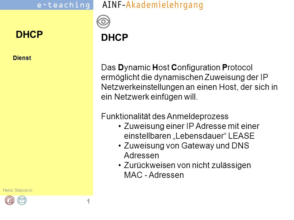 DHCP DHCP.