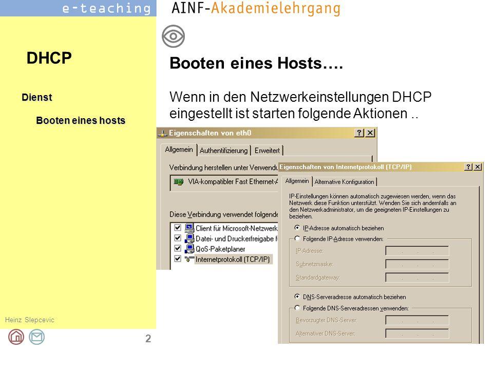 DHCP Booten eines Hosts….