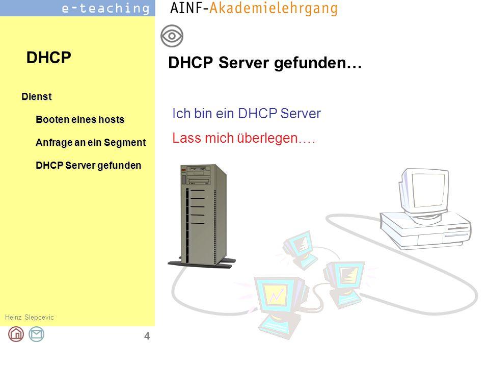 DHCP DHCP Server gefunden… Ich bin ein DHCP Server