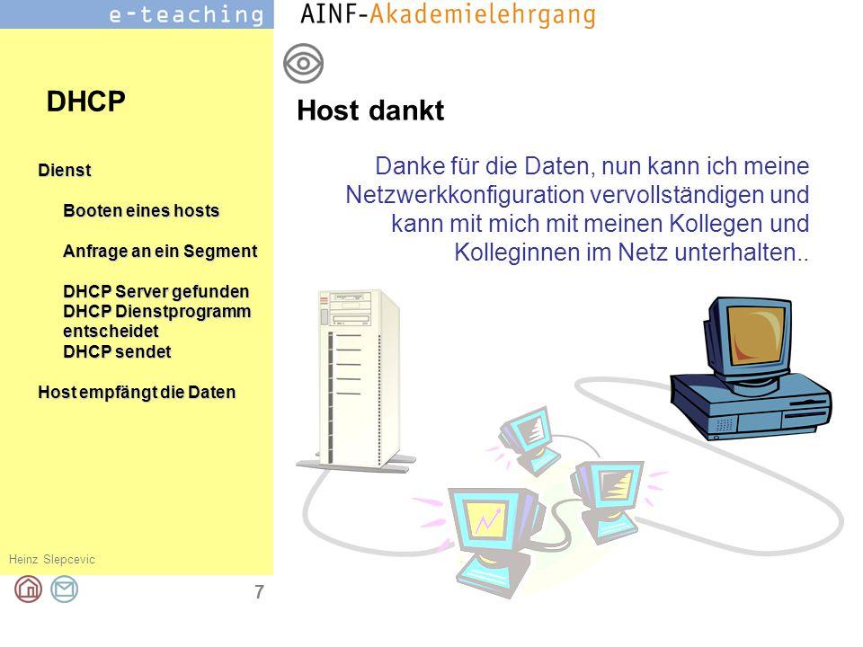 DHCP Host dankt.