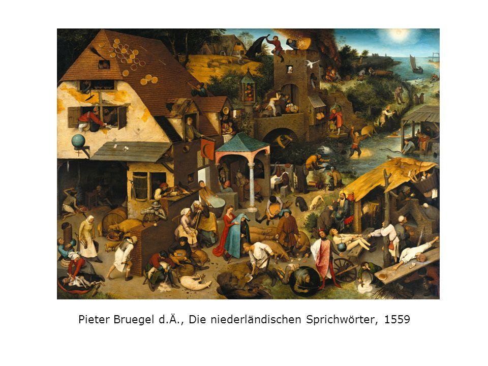 Pieter Bruegel d.Ä., Die niederländischen Sprichwörter, 1559