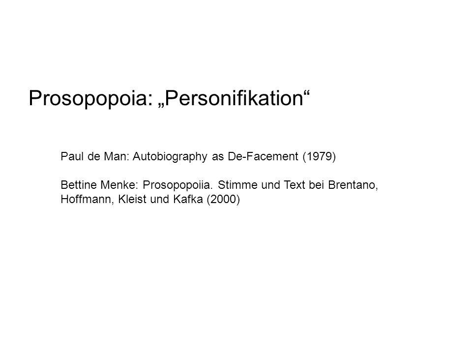 "Prosopopoia: ""Personifikation"