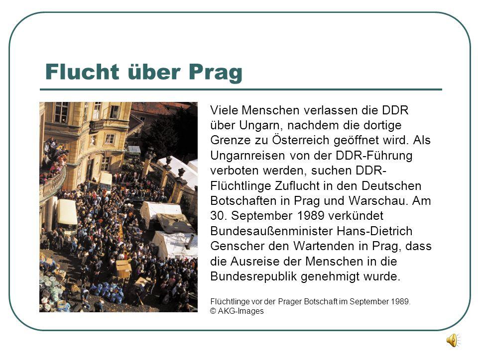 Flucht über Prag