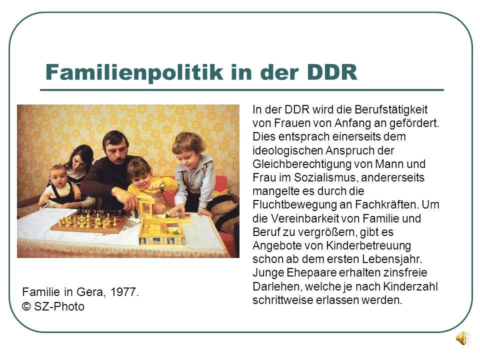 Familienpolitik in der DDR