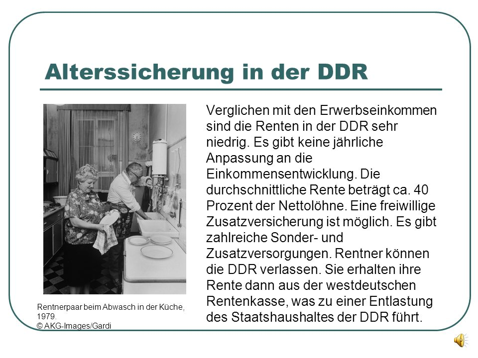 Alterssicherung in der DDR