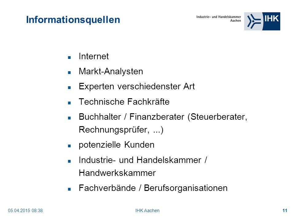 Informationsquellen Internet Markt-Analysten