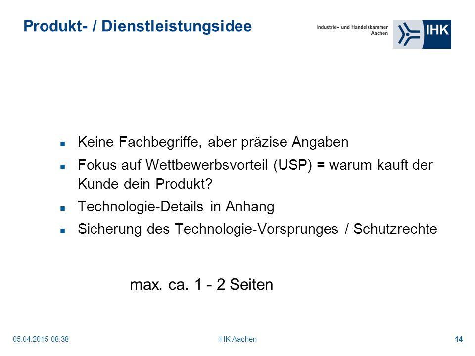 Produkt- / Dienstleistungsidee