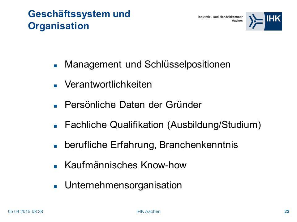 Geschäftssystem und Organisation