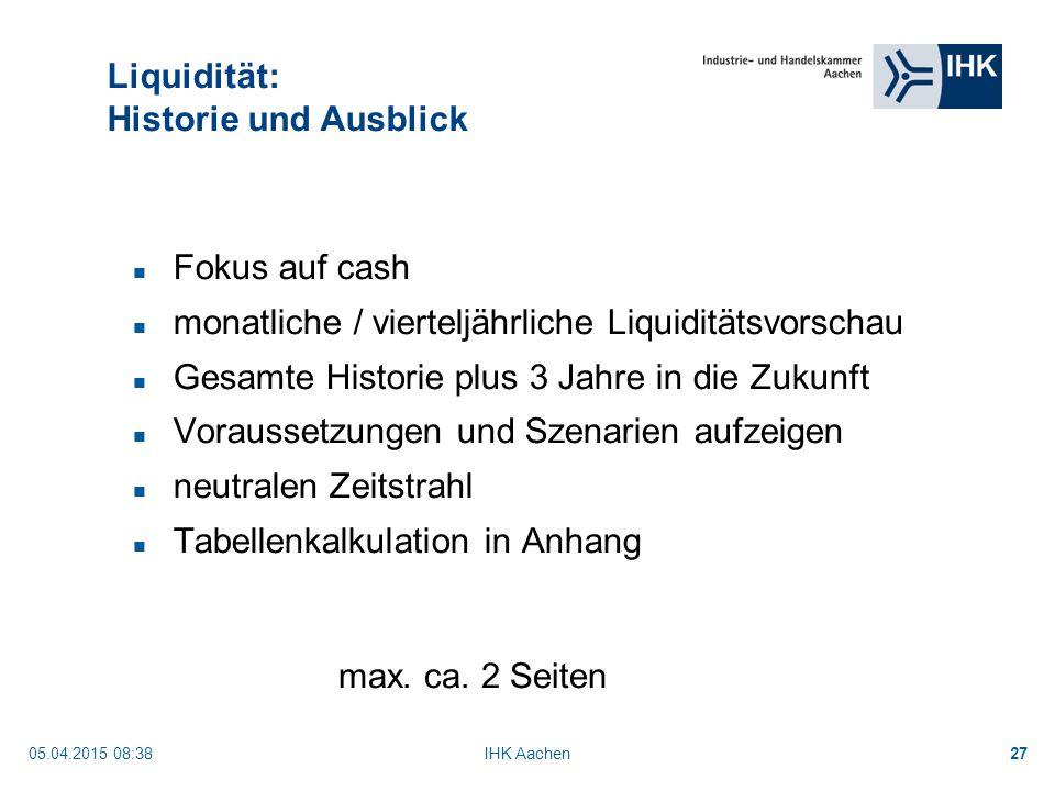 Liquidität: Historie und Ausblick